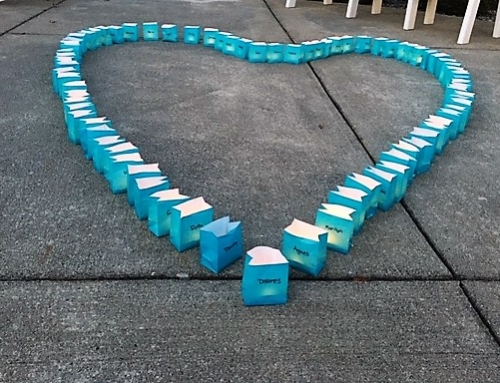 """Light The World Teal"" in honor of those journeying through alzheimer's and dementia"